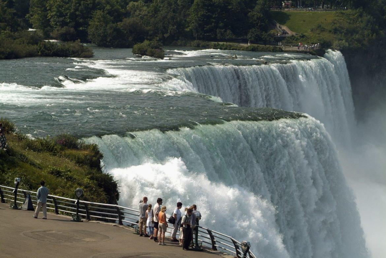 بخش های مختلف آبشار نیاگارا کانادا