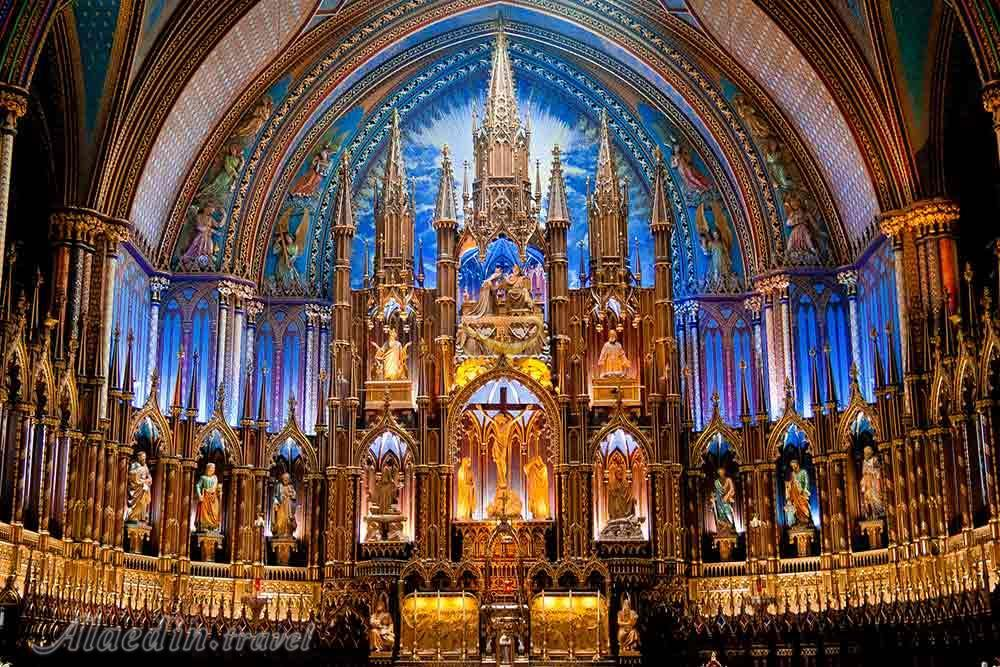 میدانستید مونترال کانادا هم یک کلیسای نوتردام دارد؟