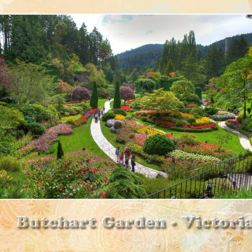 butchart garden victoria with direct tour operator BestCanadatours.com