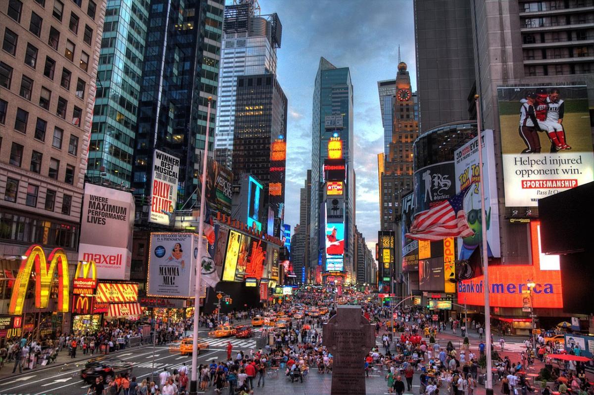 میدان تایمز نیویورک آمریکا (Times Square)