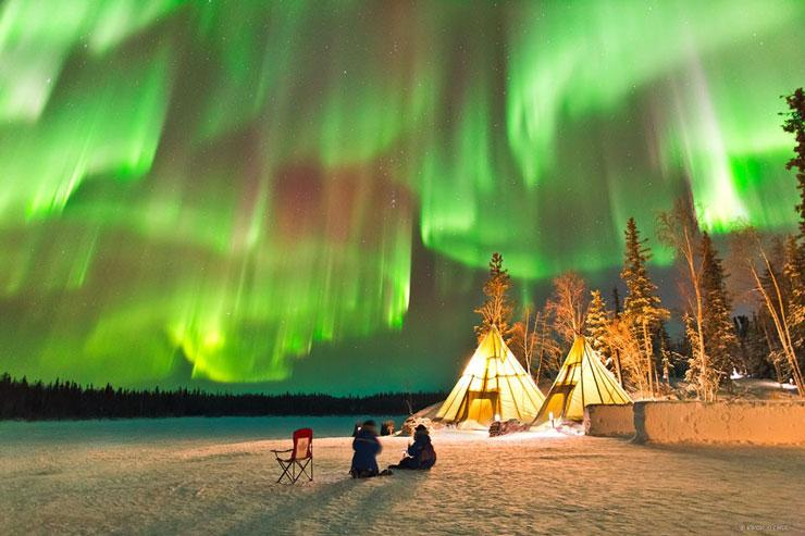 بهترین مکان ها برای دیدن شفق قطبی (نورهای شمالی)