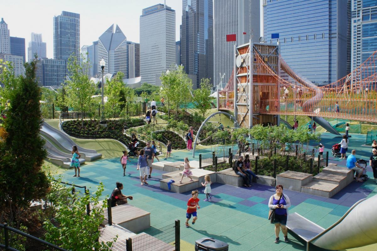 پارک مگی دالی (Maggie Daley Park) شیکاگو آمریکا
