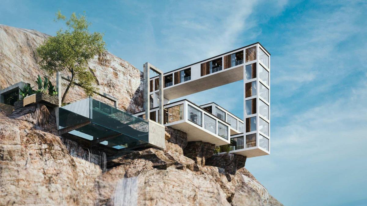 طراحی جالب معمار ایرانی بر روی صخره ای در بریتیش کلمبیا کانادا